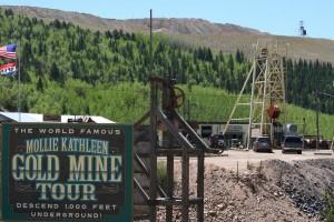 buscar oro en Mollie Kathleen Gold Mine
